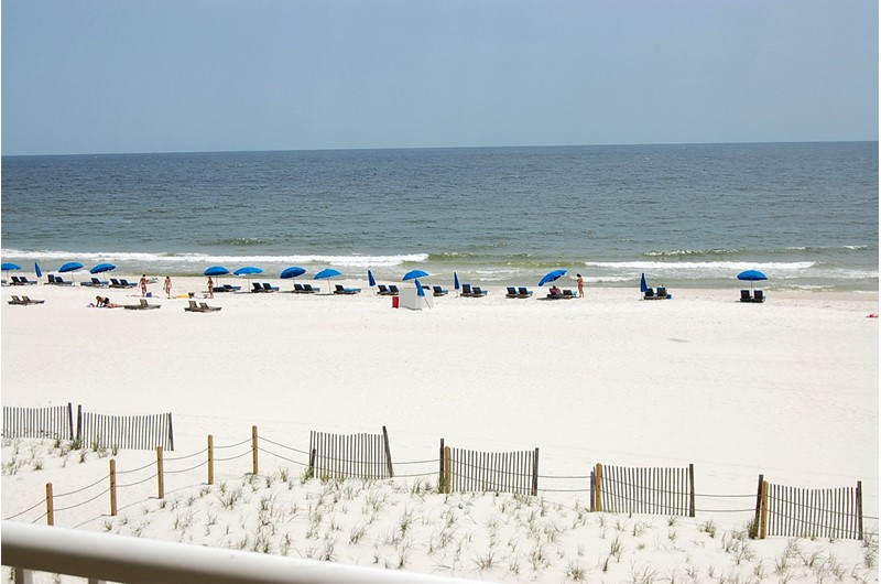 Gorgeous beach on the Gulf at Castaways in Gulf Shores Alsbama