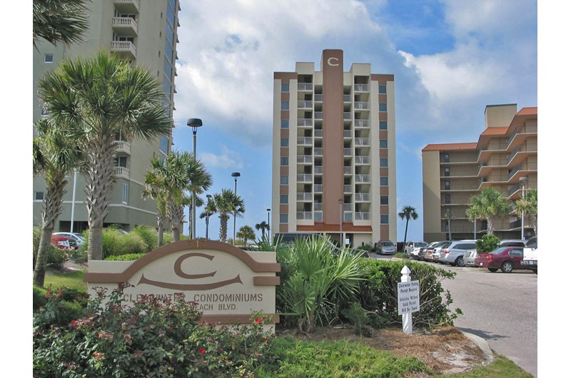 Street view of Clearwater Condominium in Gulf Shores AL