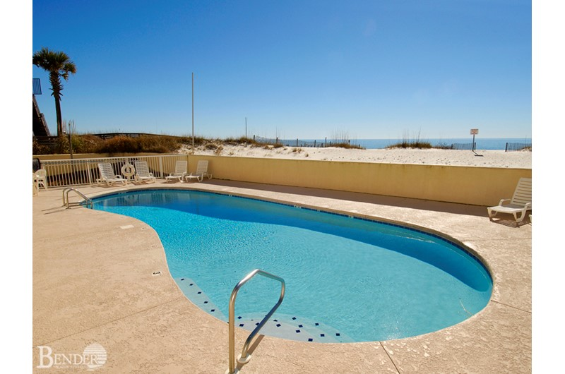 Nice Gulf front pool at Clearwater Condominium in Gulf Shores Alabama
