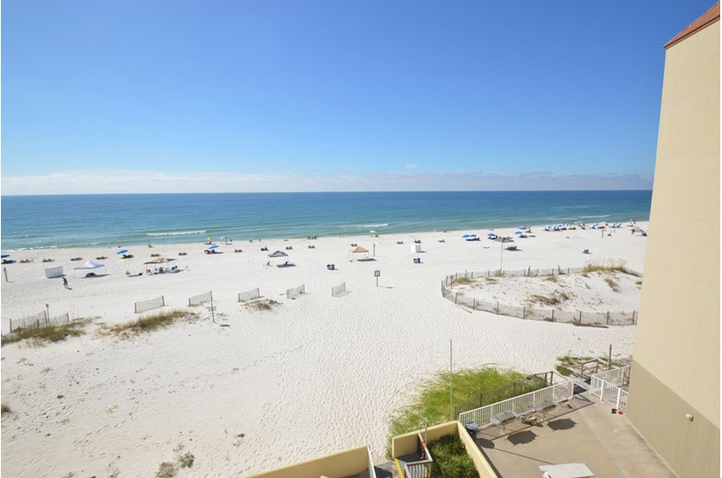 Huge view from your balcony at Clearwater Condos in Gulf Shores Alabama