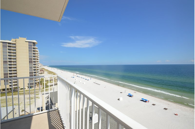 Panoramic balcony view at Crystal Shores Gulf Shores
