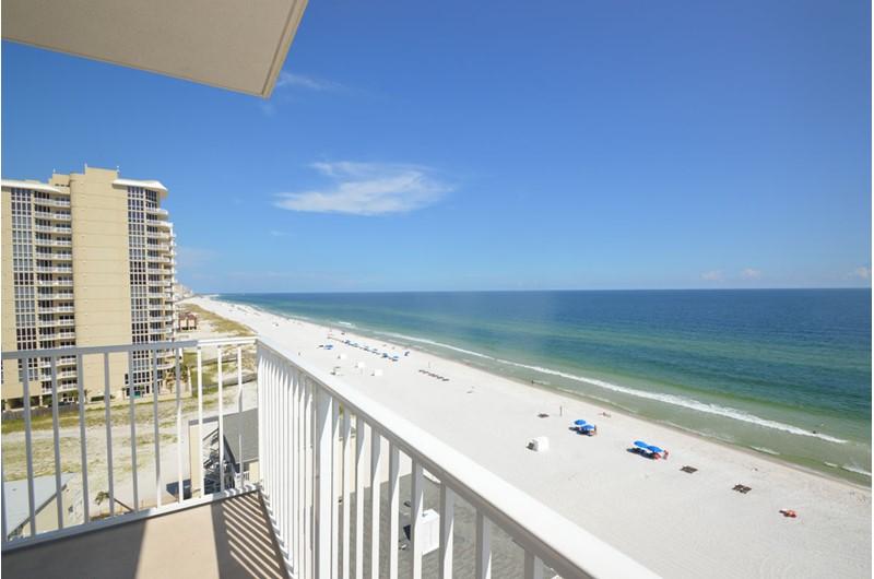 Panoramic balcony view at Crystal Shores Gulf Shores