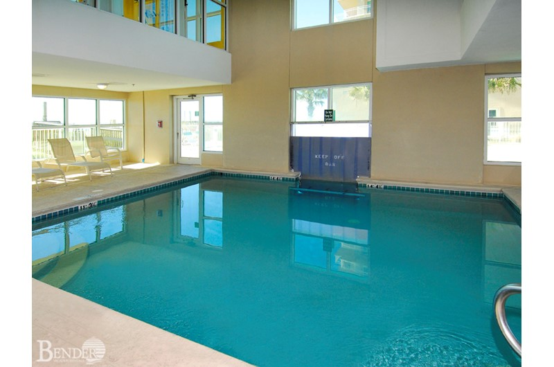 Spacious indoor swimming pool at Crystal Shores Gulf Shores