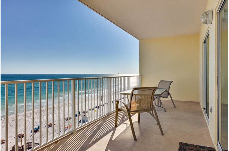 Gulf-front balcony at Crystal Shores Gulf Shores