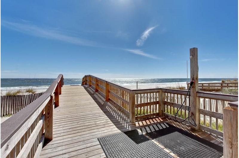 Beach walkover at Crystal Shores Gulf Shores