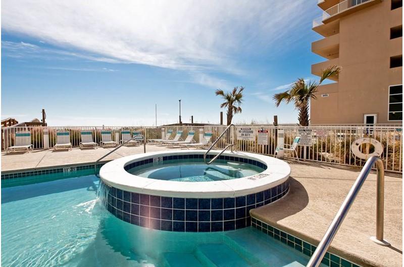 Hot tub at Crystal Shores Gulf Shores