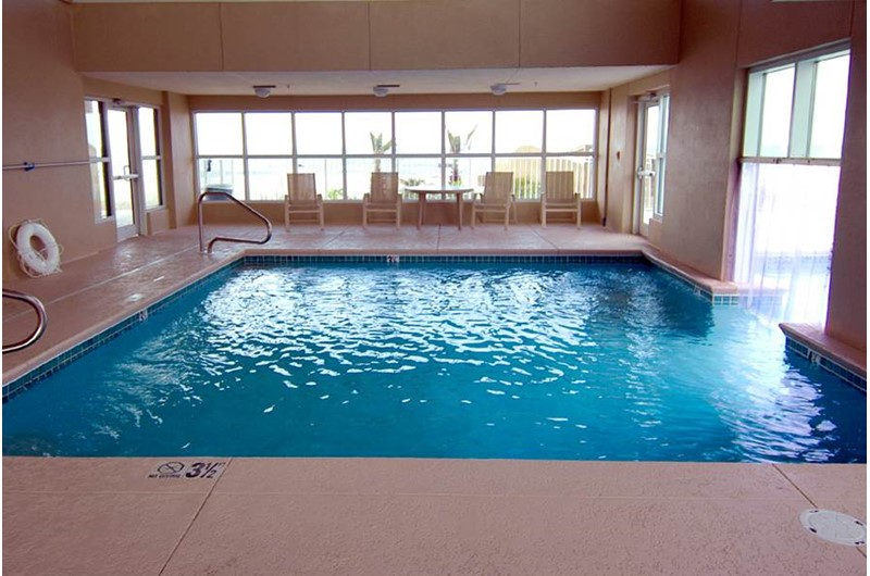 Indoor swimming pool at Crystal Shores Gulf Shores