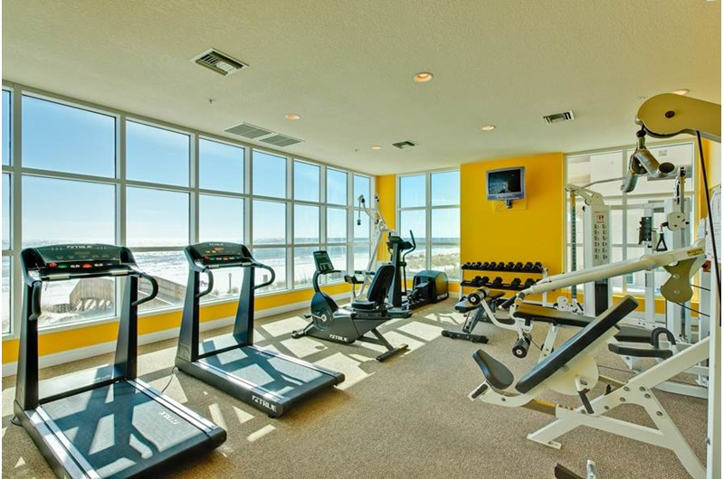 Fitness room at Crystal Shores Gulf Shores