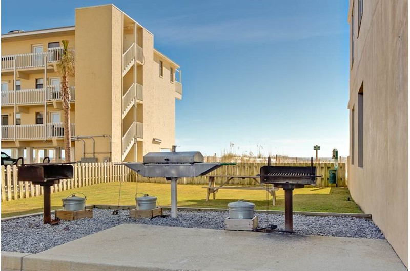 Grill area at Crystal Shores in Gulf shores Alabama