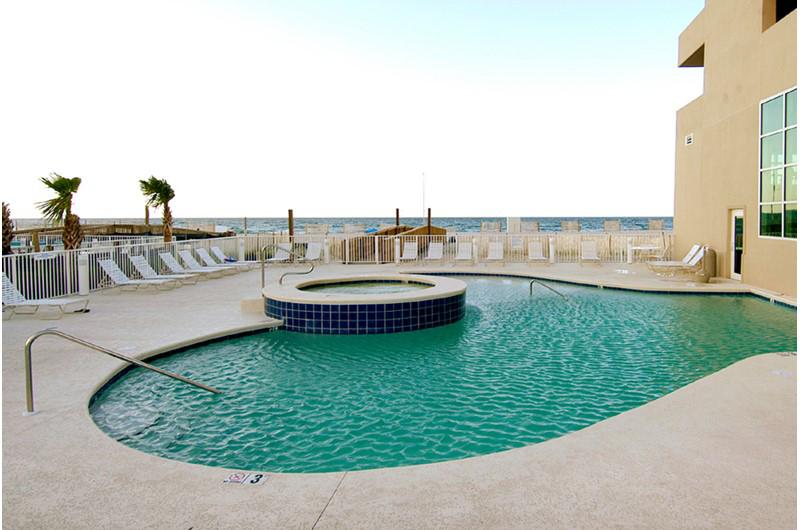 Nice hot tub at Crystal Shores Gulf Shores AL