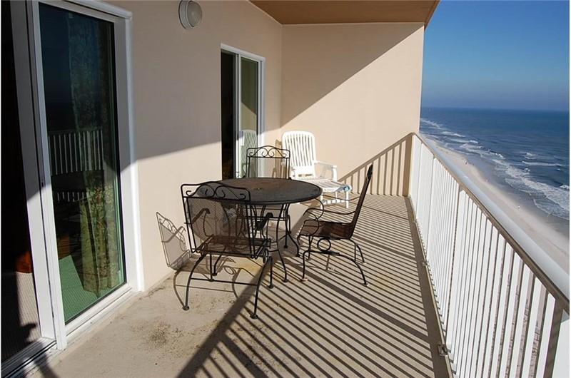 Spacious Balcony at Crystal Shores West Condo in Gulf Shores AL