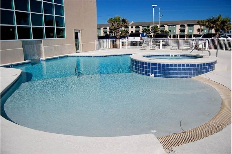 Inviting pool at Crystal Shores West Condo in Gulf Shores Alabama