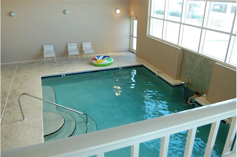 Refreshing indoor pool at Crystal Shores West Condos in Gulf Shores Alabama