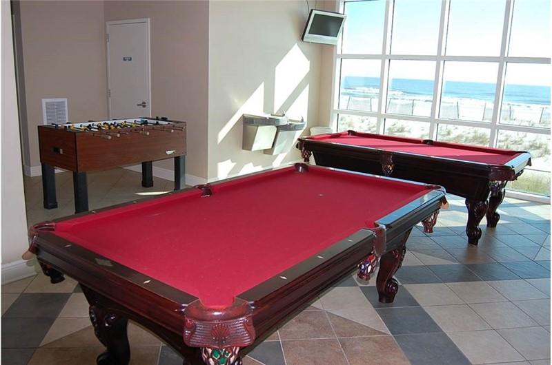 Fun game room at Crystal Shores West Condos in Gulf Shores AL
