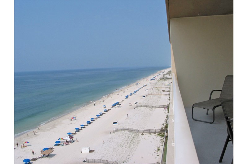 Beach view from Crystal Shores West balcony Gulf Shores AL