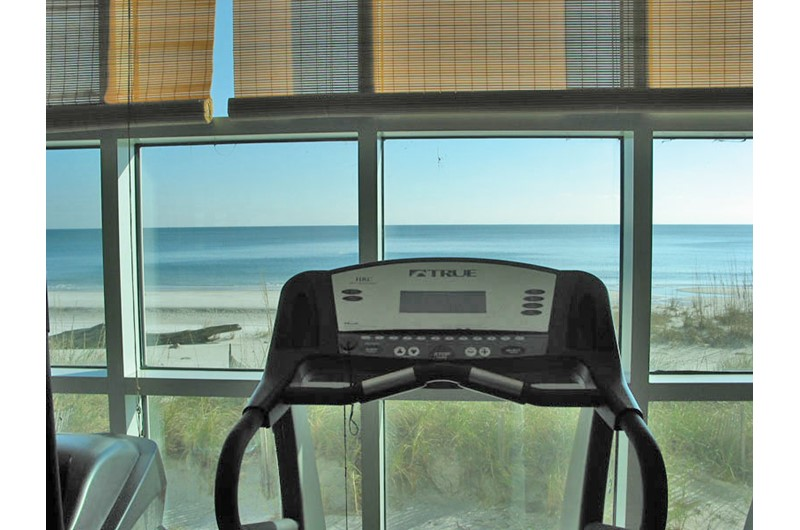 Crystal Shores West fitness room view in Gulf Shores AL