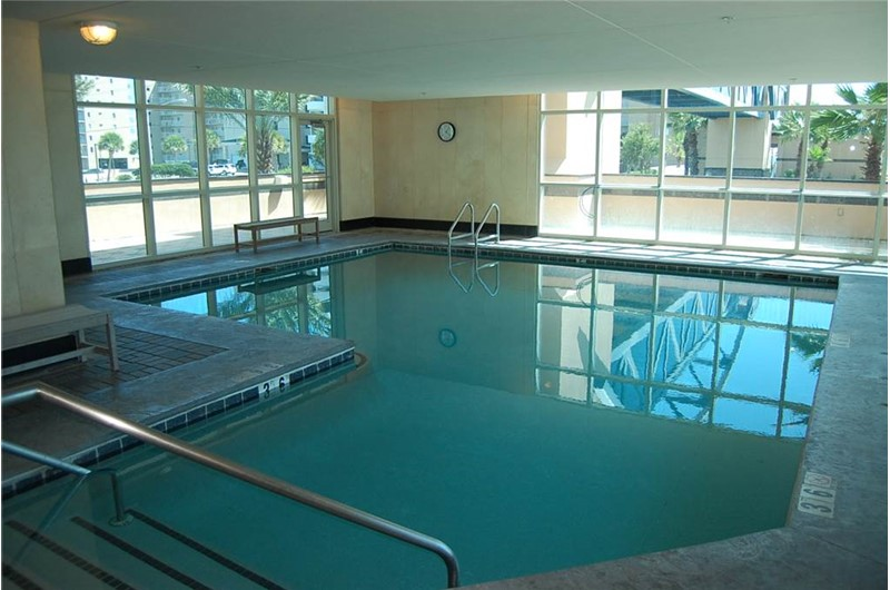 Heated indoor pool at Crystal Towers Gulf Shores