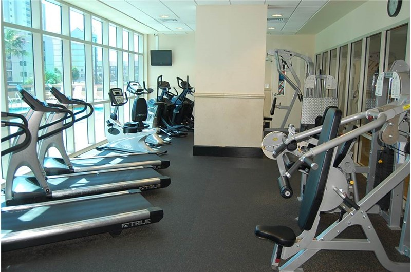 Nice workout room at Crystal Towers Gulf Shores