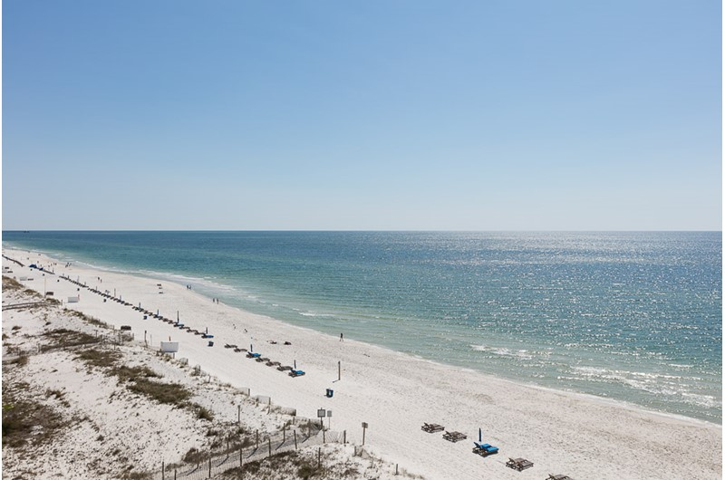 Big Gulf views from balcony at Edgewater East in Gulf Shores AL