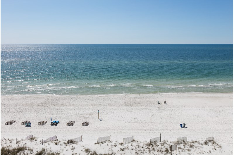 Full Gulf view from Edgewater East in Gulf Shores Alabama