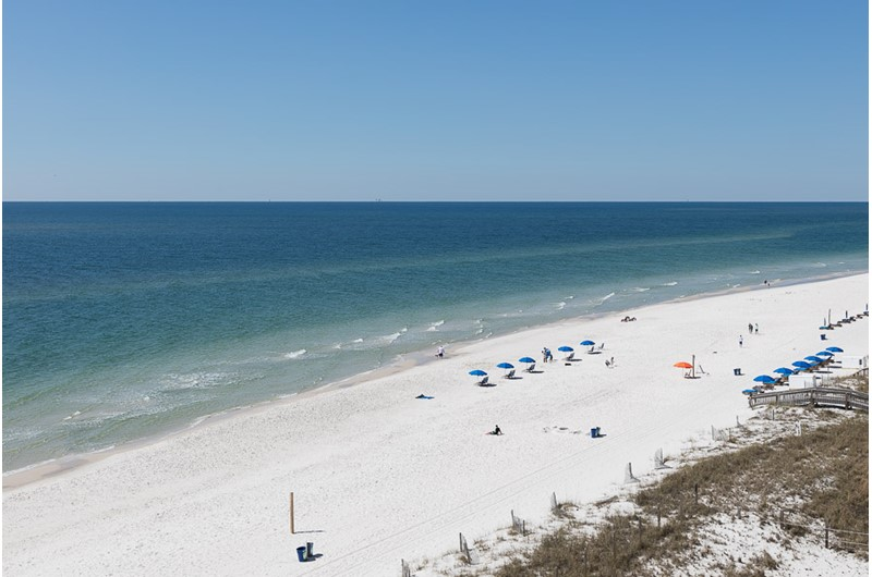 Beautiful view of coastline from Edgewater East in Gulf Shores Alabama