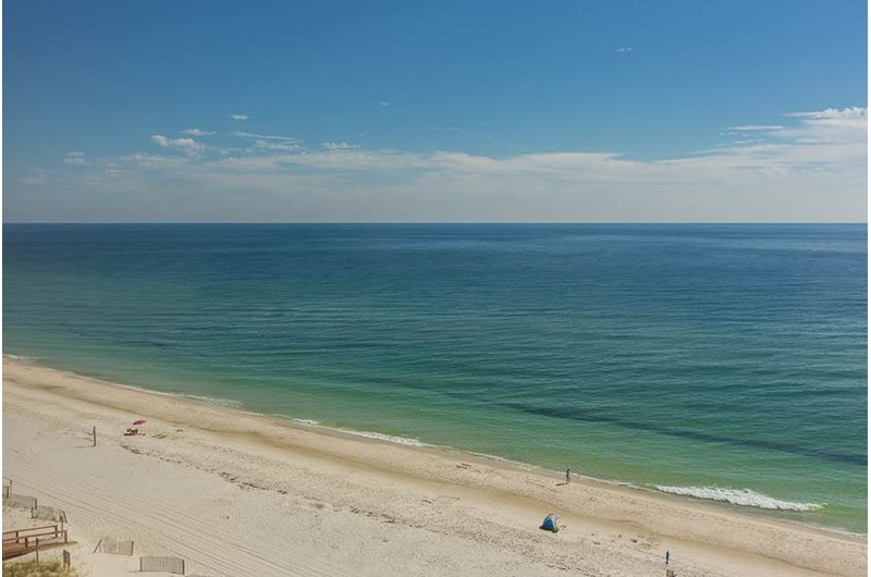 Lovely view from balcony at Edgewater West in Gulf Shores Alabama