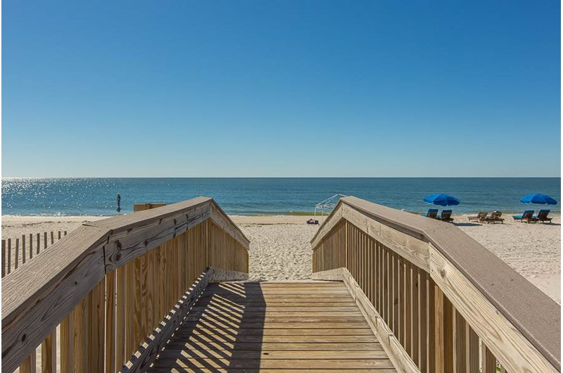 Easy access to the Gulf with walk over  at Edgewater West in Gulf Shores Alabama