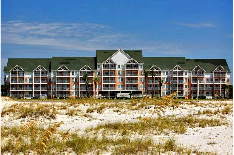 Beach front view at Grand Beach Resort in Gulf Shores AL