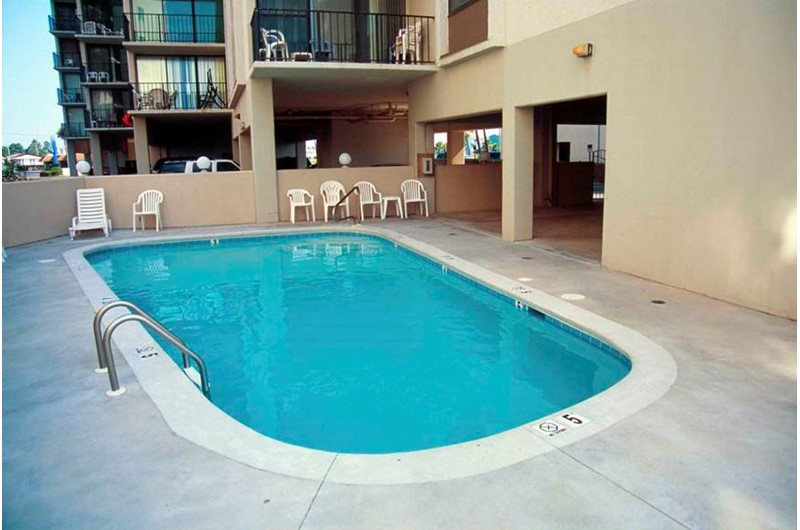 View of pool at Gulf House in Gulf Shores AL