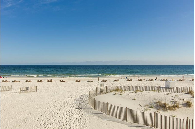 Beautiful view of the Gulf from Gulf House Condo in Gulf Shores Alabama