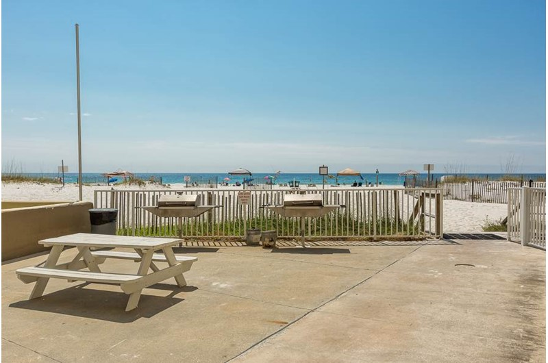 Grill area at Gulf House Condo in Gulf Shores Alabama