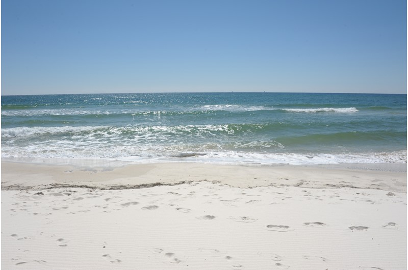 Gulf waves lapping the beach at Gulf Shores Plantation