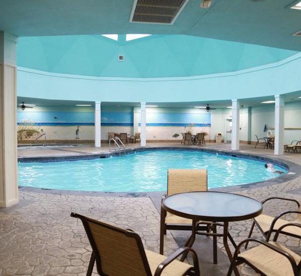 Indoor swimming pool at Gulf Shores Plantation