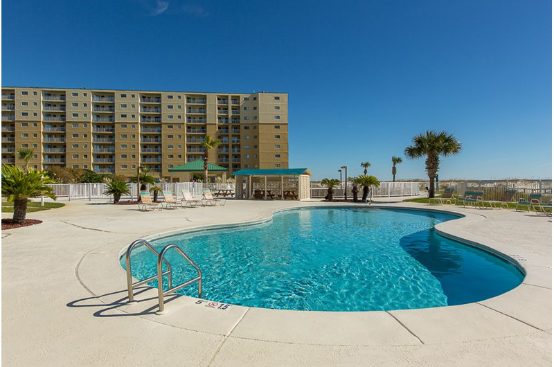Nice lounging pool at Gulf Shores Plantation in Gulf Shores AL