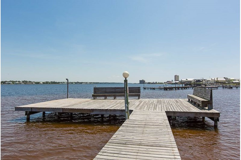 Relax on the pier on the bay at Gulf Shores Surf and Racquet Club in Gulf Shores Alabama