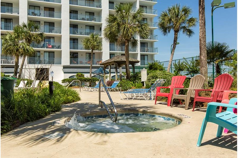 Enjoy the hot tub at Gulf Shores Surf and Racquet Club in Gulf Shores Alabama