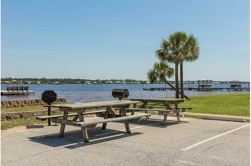Enjoy the grilling are with your family at Gulf Shores Surf and Racquet Club in Gulf Shores Alabama