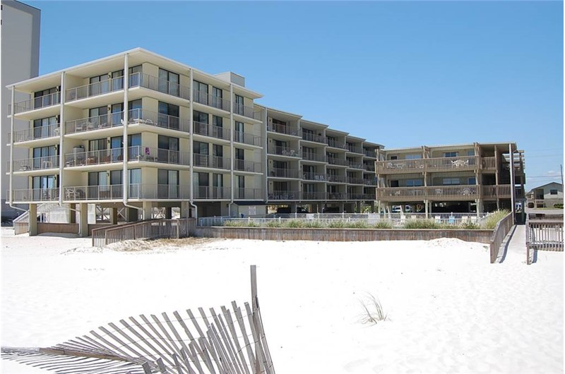 View from the beach at Gulf Village Gulf Shores AL
