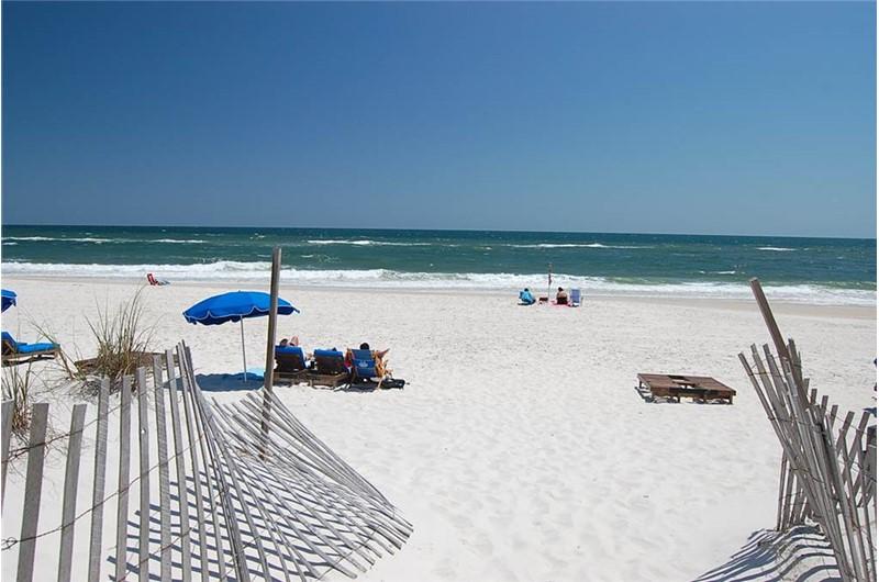 Gulf Village Gulf Shores AL has gorgeous views of the beach.