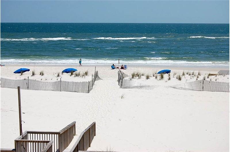 White sandy beaches at Gulf Village Gulf Shores AL