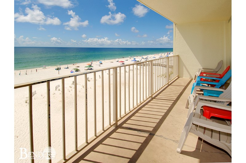 Roomy balcony at Gulf Village Gulf Shores AL