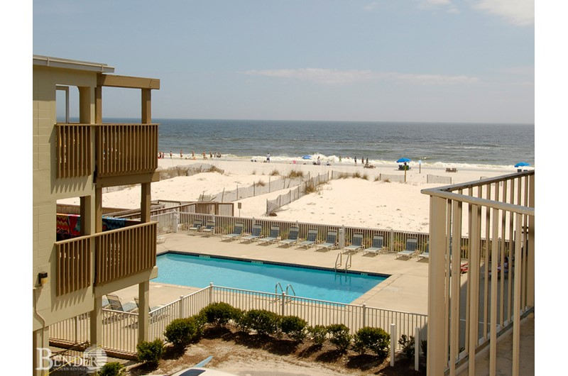 Lovely view of the pool from one of the private balconies at Gulf Village Gulf Shores AL
