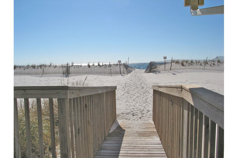 Beach walkover at Gulf Village Gulf Shores AL