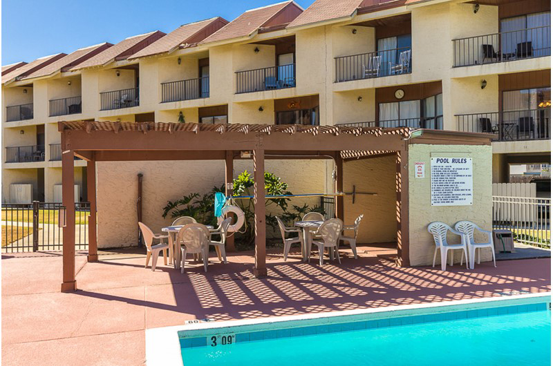 Your family will have plenty of space to lounge around the pool at Gulfside Townhomes in Gulf Shores AL