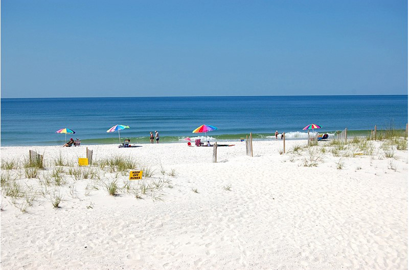 The Gulf is right out side you door at Gulfside Townhomes in Gulf Shores AL