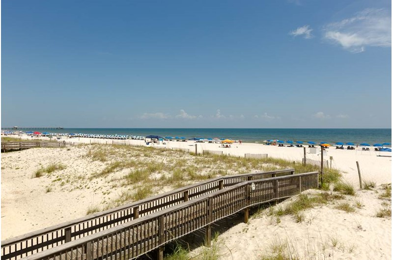 Easy access to the beach with the walk over at Island Shores in Gulf Shores Alabama