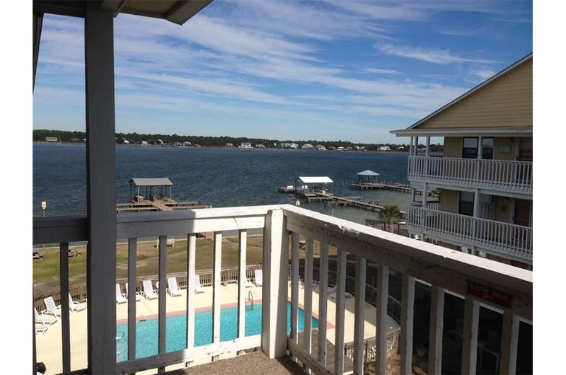 Deck view of water from Lagoon Run in Gulf Shores Alabama