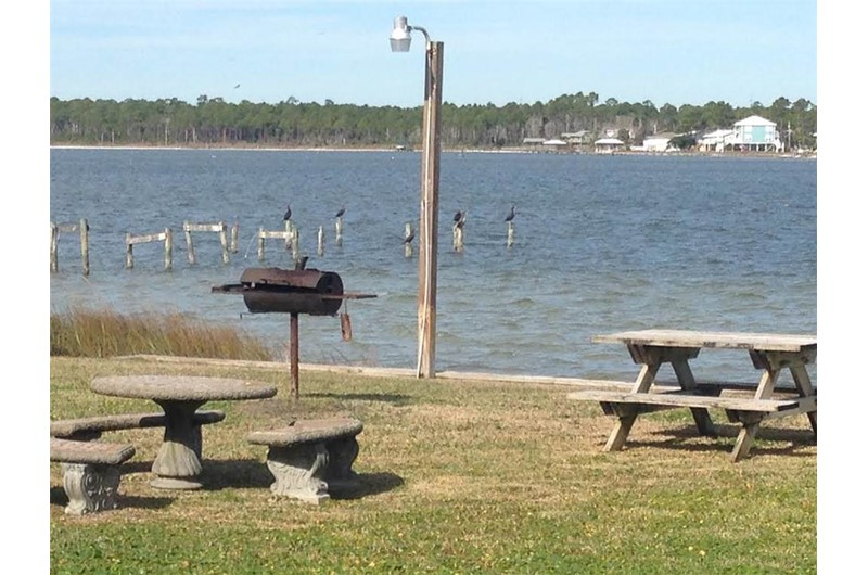 Grill area at Lagoon Run in Gulf Shores Alabama
