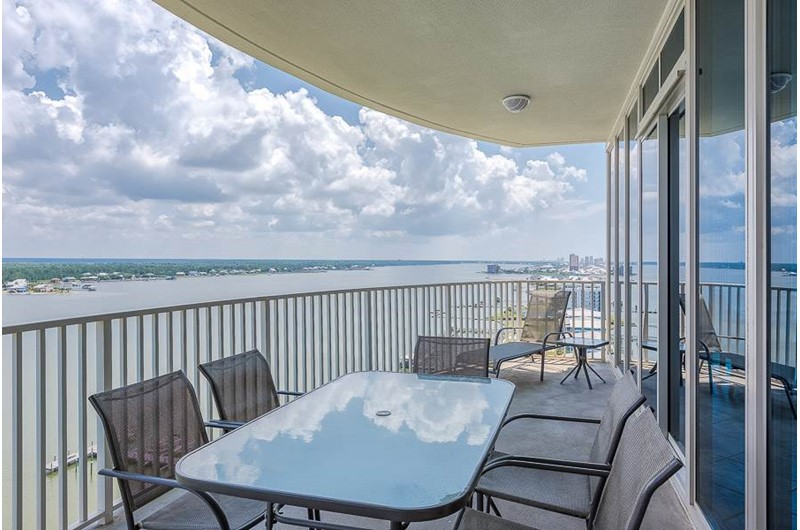 Lovely balcony at Lagoon Tower in Gulf Shores Alabama