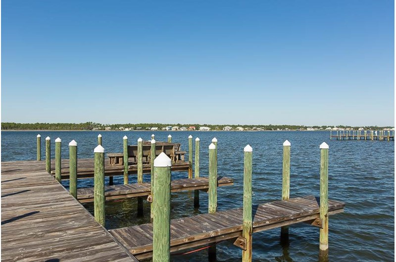 Dock at Lagoon Tower in Gulf Shores Alabama